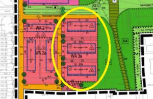 Lage der 24 GEWOBAU-Häuser